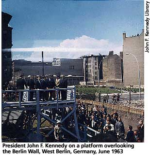 JFK at Berlin Wall